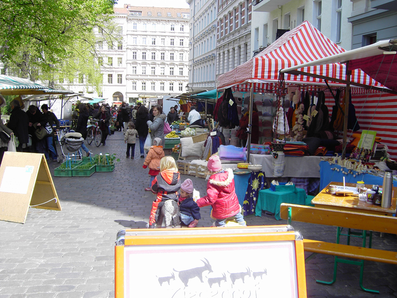 Der Ökomarkt am Chamissoplatz.  Foto: psk