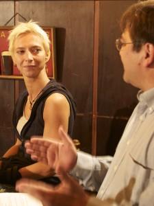 Direktkandidatin Halina Wawzyniak von der Linken im KuK-Redaktionsgespräch  Foto: pi