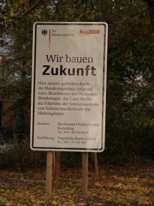 Hier baut der Bund: Baustelle Gneisenau.  Foto: pi