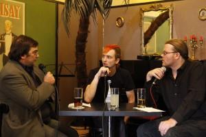 Sebastian von Hoff (Piraten) beim KuK-Gespräch.  Foto: phils