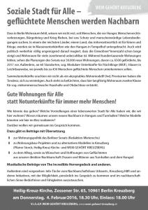 Flyer zur Infoveranstaltung