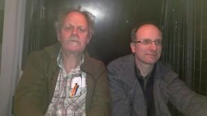 Abgeschoben: KuK-Mitarbeiter Lothar Ebehard (links) im Gefangenentransport auf dem Weg nach Litauen.  Foto: privat