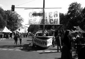 Der »Grüne Bereich« beim Straßenfest gehörte zu den Neuerungen des neuen Veranstalters.  Foto: psk