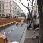 Parklet (erste Generation) in der Bergmannstraße
