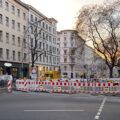 Baustelle an der Kreuzung Bergmannstraße/Zossener Straße