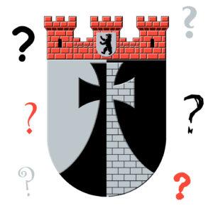 Wappen Kreuzberg mit Fragezeichen drumherum