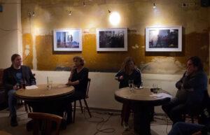 Canan Bayram und Clara Herrmann beim Redaktionsgespräch im Heidelberger Krug