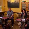 Sebastian Forck und Cansel Kiziltepe beim Redaktionsgespräch im Gasthaus Valentin